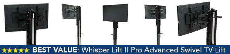 how does the touchstone whisper lift ii tv lift mechanism compare to higher priced competitors