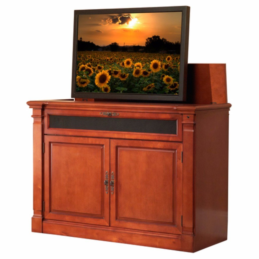 "Adonzo 70052 Cherry TV Lift Cabinet for 60"" Flat screen TVs"
