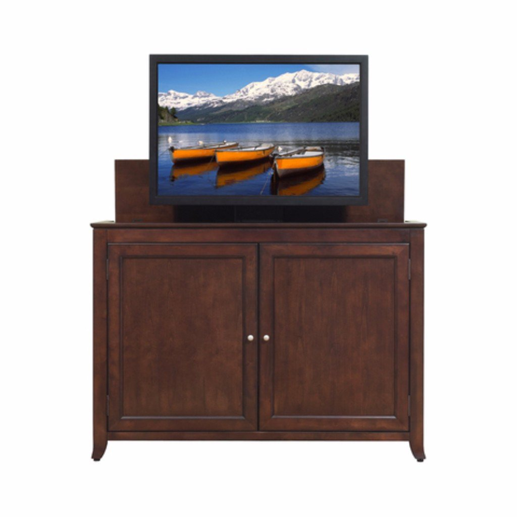 tv hideaway furniture. beautifully designed cabinet featuring solid wood door panels and a deep rich espresso finish that is monterey 70056 tv lift tv hideaway furniture