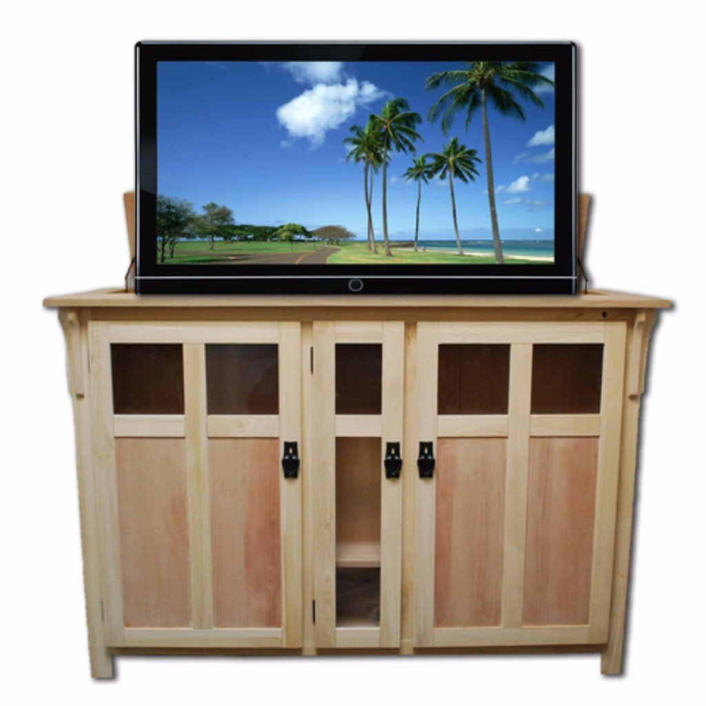 Touchstone 70162 Bungalow unfinished TV Lift Cabinet for TVs Up To ...