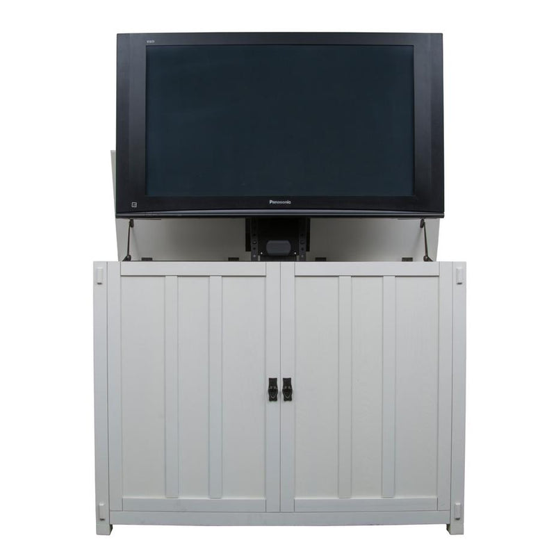 "Elevate 72013 White Mission Style TV Lift Cabinet for 50"" Flat screen TVs - Touchstone Home Products, Inc."