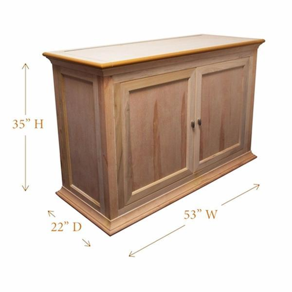 "Hartford 73010 Unfinished TV Lift Cabinet for 50"" Flat screen TVs - Touchstone Home Products, Inc."