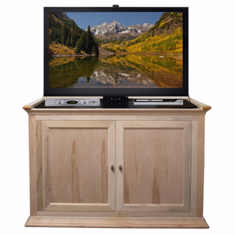 "Capable of housing TV's up to 50"" (diagonal), the Harrison combines clean lines and a beautiful unfinshed finish exterior that is waiting to be finished to fit your existing home décor."
