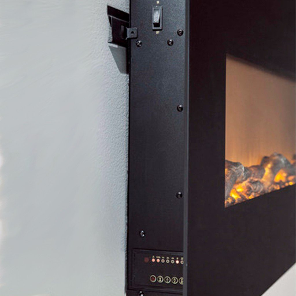 touchstone 80001 onyx wall mounted electric fireplace 50