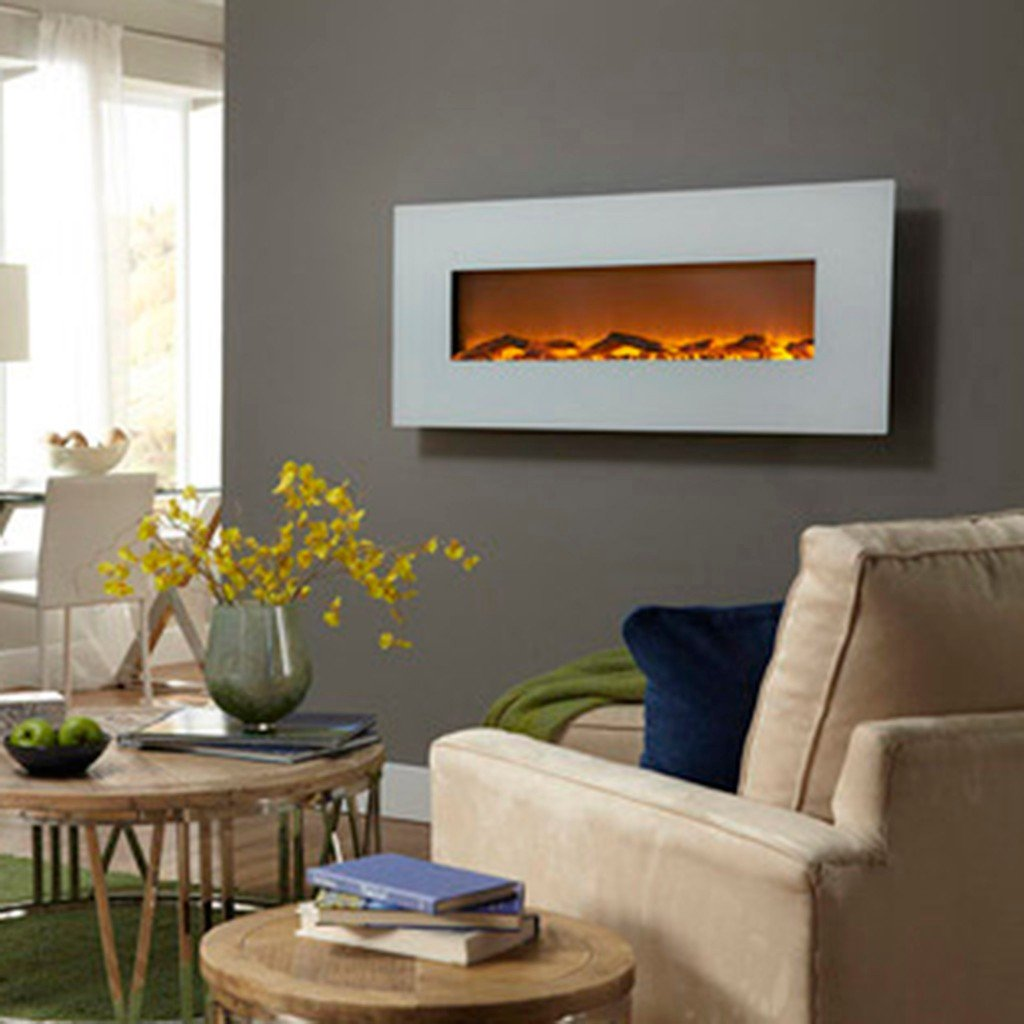 touchstone 80002 ivory wall mounted electric fireplace 50