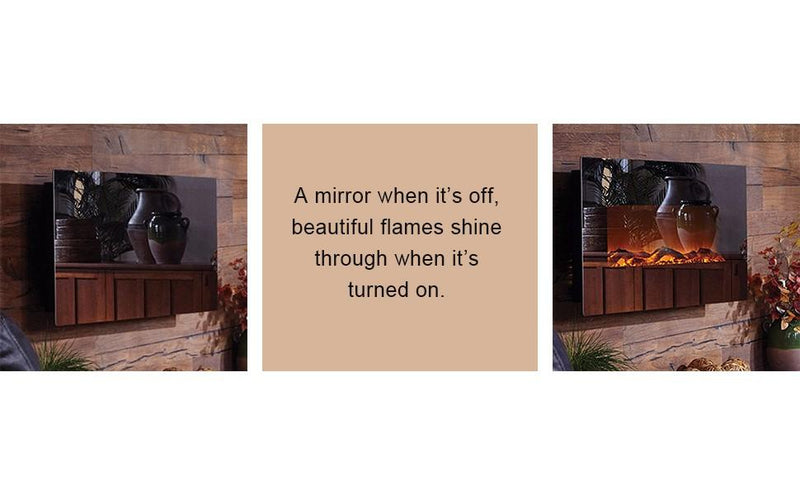 "Mirror Onyx 80008 50"" Wall Mounted Electric Fireplace - Touchstone Home Products, Inc."