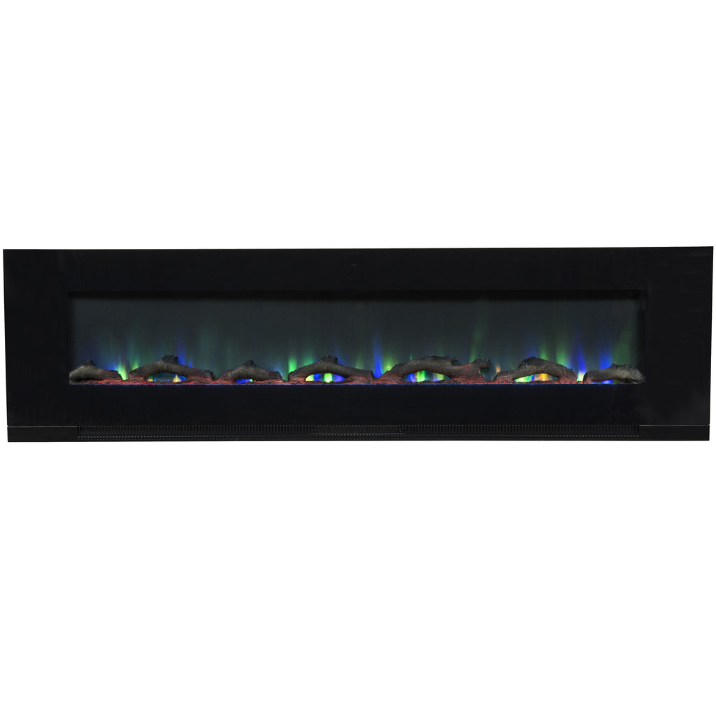 Bringing a lifelike quality LED flame housed within a polished black steel construction at a cost effective price