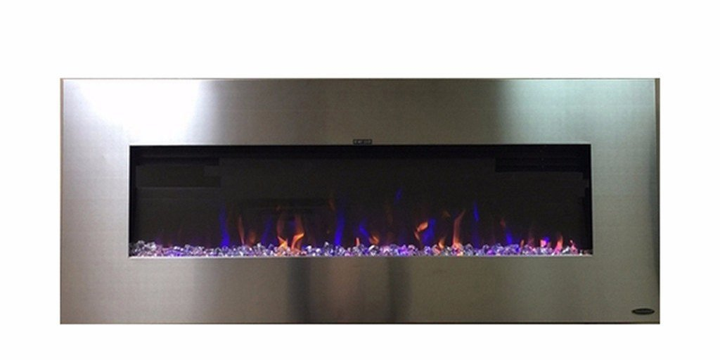 "AudioFlare 80024 Refurbished Stainless 50""Recessed Electric Fireplace - Touchstone Home Products, Inc."