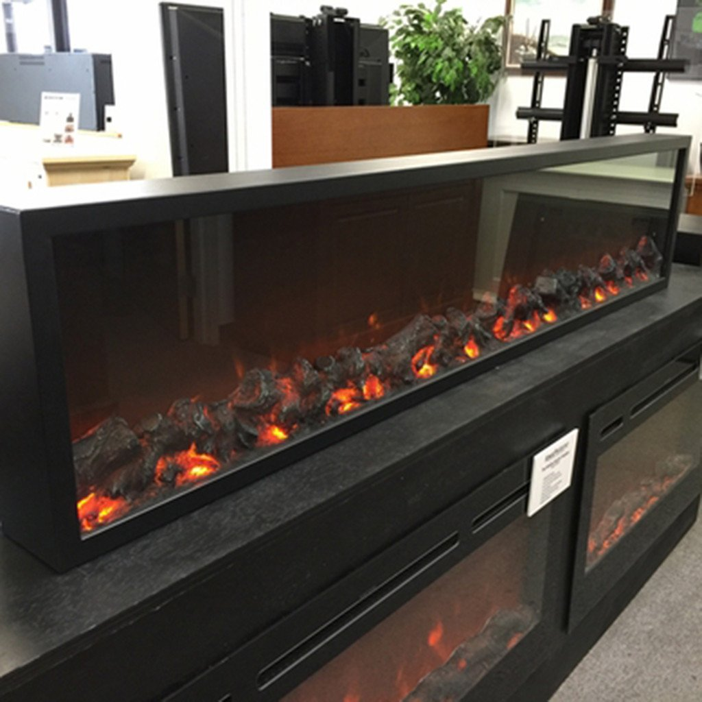 touchstone 80104 emblazon 96 wall length linear electric fireplace