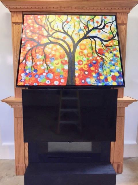 ARTV Television Mount - TV Mount for your Fireplace behind artwork