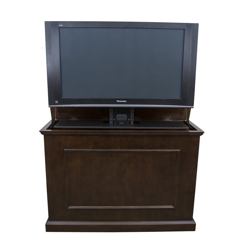 tv lift cabinets for tvs 50 inches and smaller touchstone home products inc. Black Bedroom Furniture Sets. Home Design Ideas