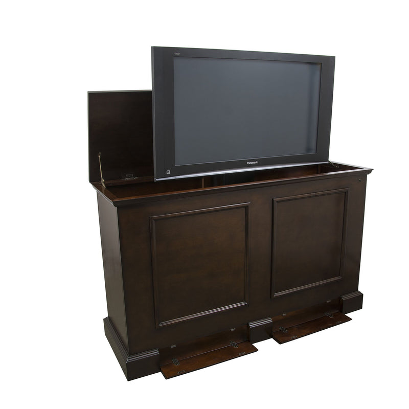 "Showroom Model - 3 Inch Smaller Length Grand Elevate 74008 Espresso TV Lift Cabinet for 60"" Flat screen TVs - Touchstone Home Products, Inc."