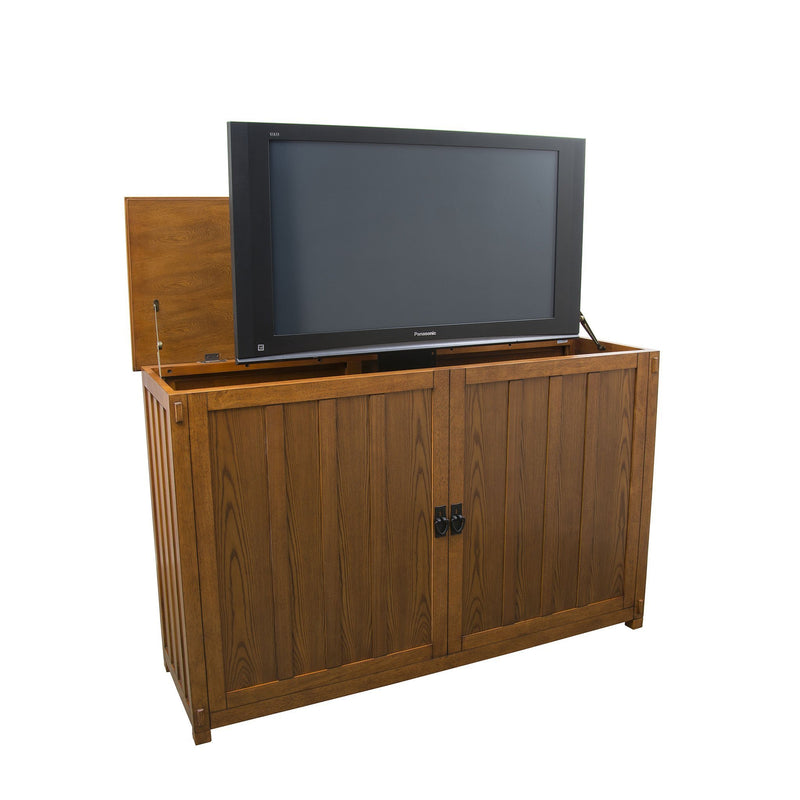 "Showroom Model Grand Elevate 74006 Mission TV Lift Cabinet for 65"" Flat screen TVs - Touchstone Home Products, Inc."
