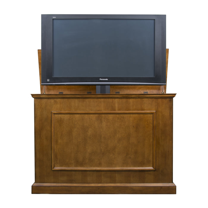 "Elevate 72009 Honey Oak TV Lift Cabinet for 50"" Flat screen TVs"