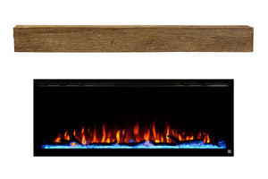 Sideline Elite Fireplace and Encase Mantel Bundle