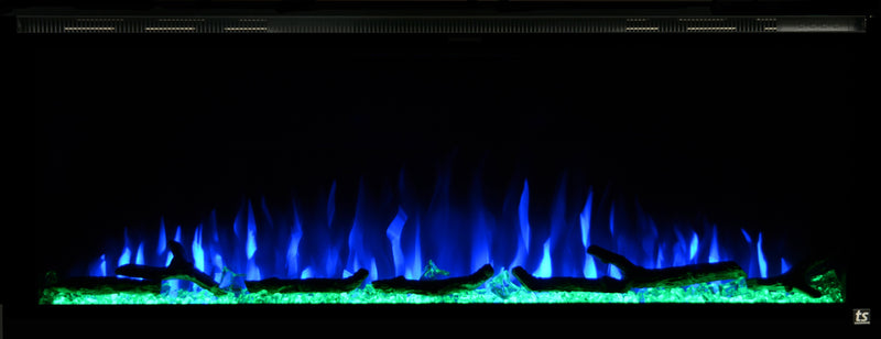 "Sideline Elite 60"" Refurbished Recessed Electric Fireplace - Touchstone Home Products, Inc."