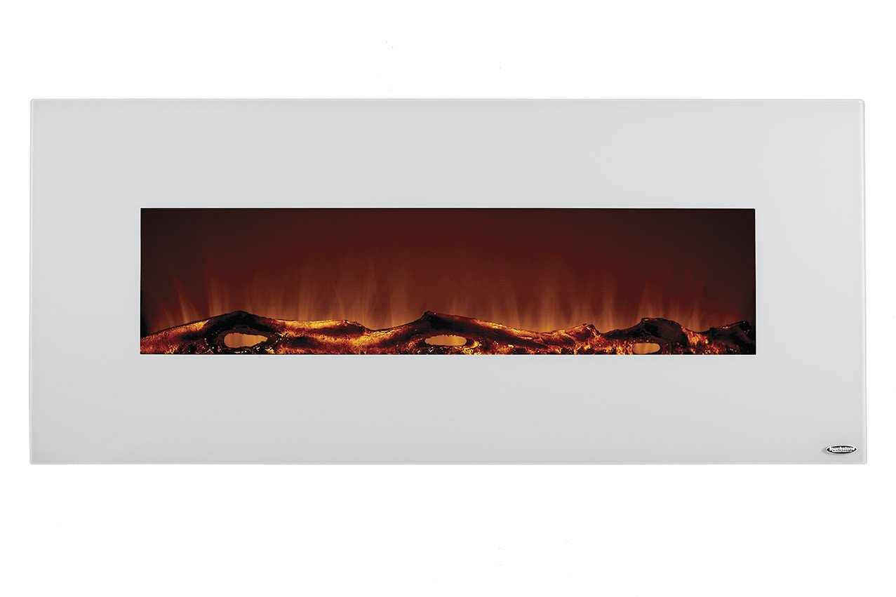 touchstone  ivory wall mounted electric fireplace  wide  - ivory   wall mounted electric fireplace