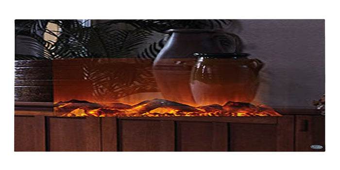 "Mirror Onyx 80008 50"" Wall Mounted Electric Fireplace"