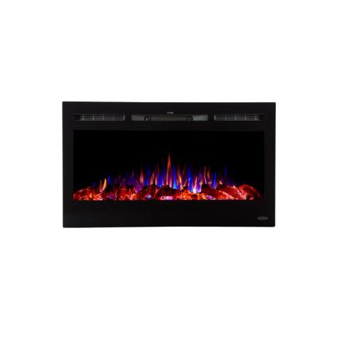 Touchstone 80014 Sideline 36 Recessed Electric Fireplace