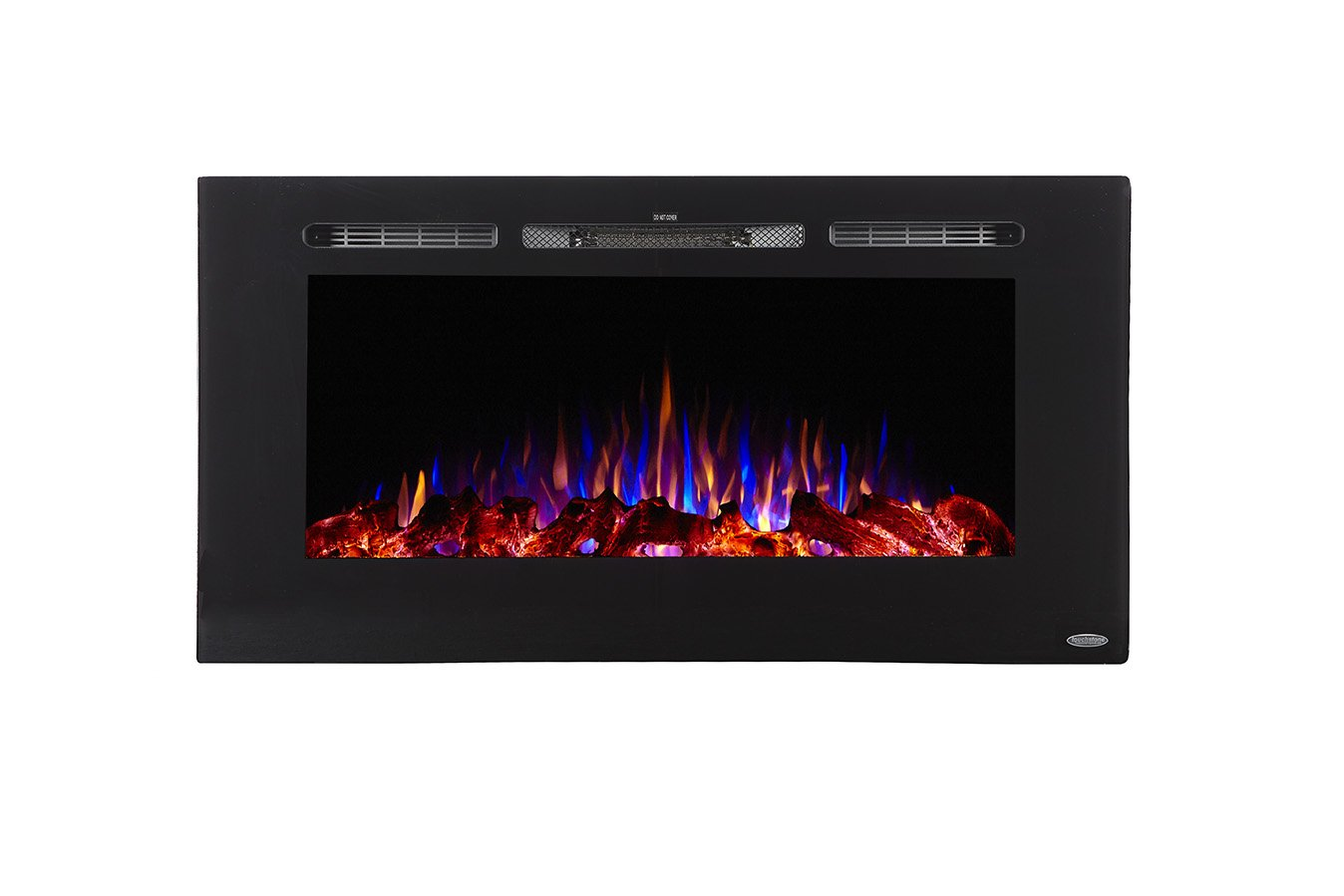 Touchstone Sideline40 80027 40 Inch Wall Recessed Electric Fireplace