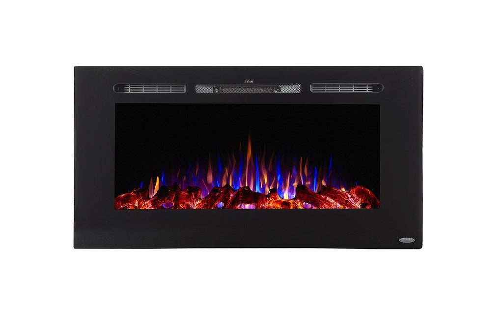 "Sideline 40 80027 40"" Refurbished Recessed Electric Fireplace - Touchstone Home Products, Inc."