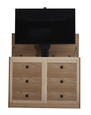 "Elevate 72114 Rustic Unfinished TV Lift Cabinet for 50"" Flat screen TVs"