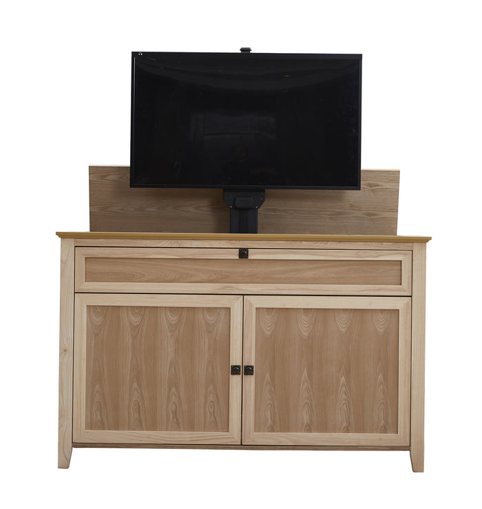 "The Claymont Unfinished 70163 TV Lift Cabinet for 65"" Flat screen TVs"