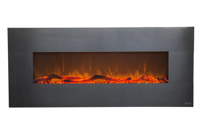 "Onyx Stainless 80026 50"" Wall Mounted Electric Fireplace"