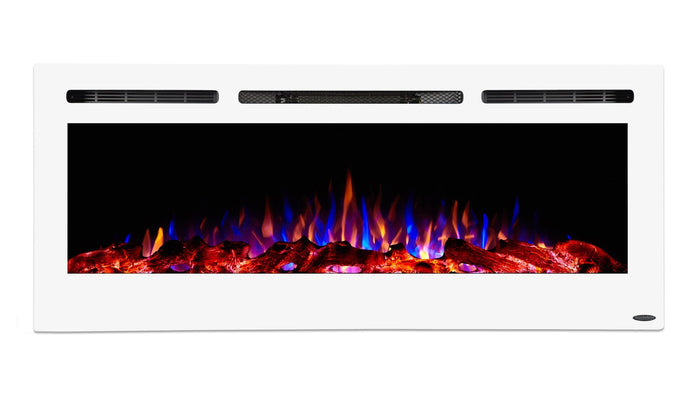 "Sideline 50 White 80029 50"" Refurbished Recessed Electric Fireplace"