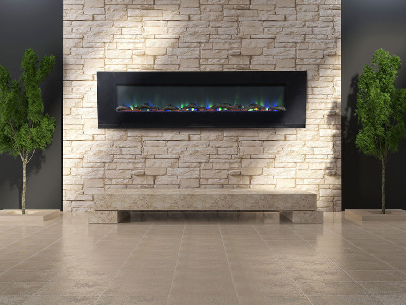 "ValueLine 72 80019 72"" Recessed Electric Fireplace - Touchstone Home Products, Inc."