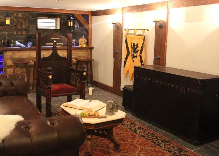 ellis trunk tv lift cabinet featured in diy network man caves medieval times episode photo courtesy of diy network
