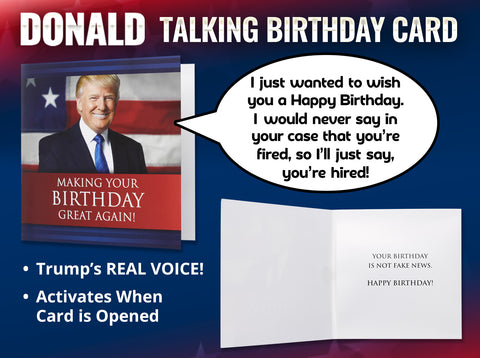 The Included Envelope Ensures You Can Easily Sign Seal And Deliver Trump Talking Birthday Card To A Friend Or Family Member Nobody Will Ever Know