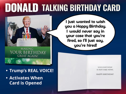 The Included Envelope Ensures You Can Easily Sign Seal And Deliver Trump Talking Birthday Card To A Family Member Or Office Friend