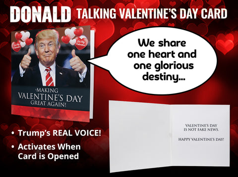 Talking Trump Valentine Card Our Friendly Forest