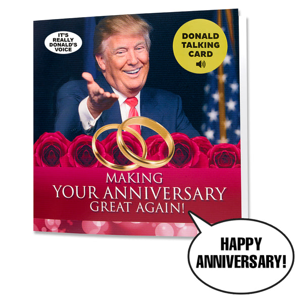 Talking Trump Anniversary Card