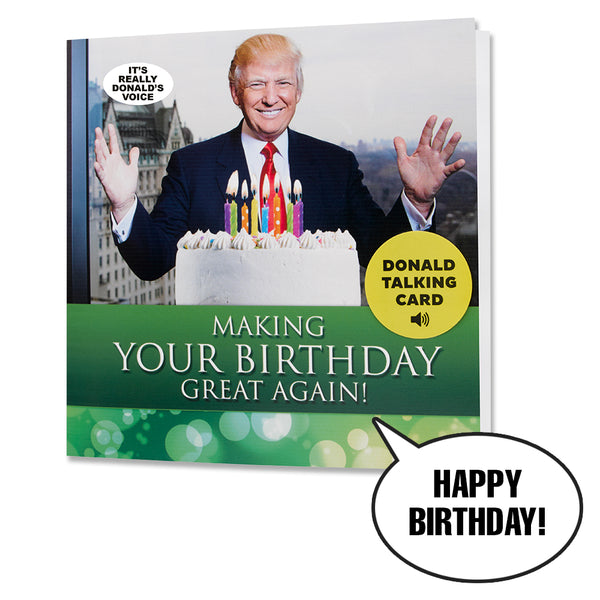 NEW Talking Trump Birthday Card