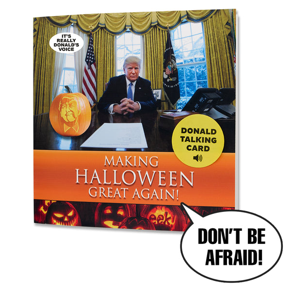 Talking Trump Halloween Card