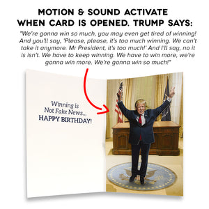 Dancing Donald MOTION & SOUND Birthday Card