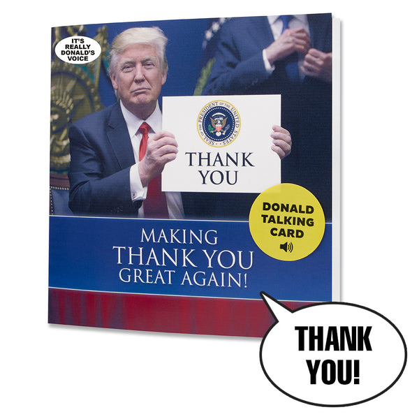 Talking Trump Thank You Card