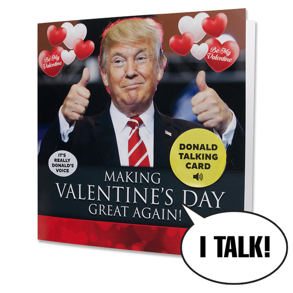 Talking Trump Valentine Card