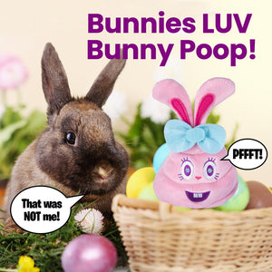 Farting Bunny Poop Emoji - Easter Plush Toy