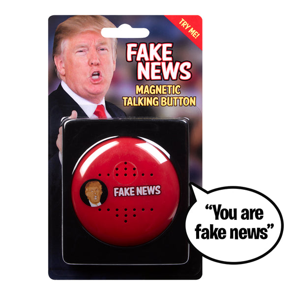 FAKE NEWS Talking Trump Button