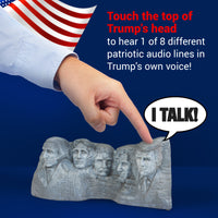 Mount Rushmore Talking Statue with Donald Trump Head