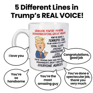 Donald Trump Talking Coffee Mug FOR GRANDPA