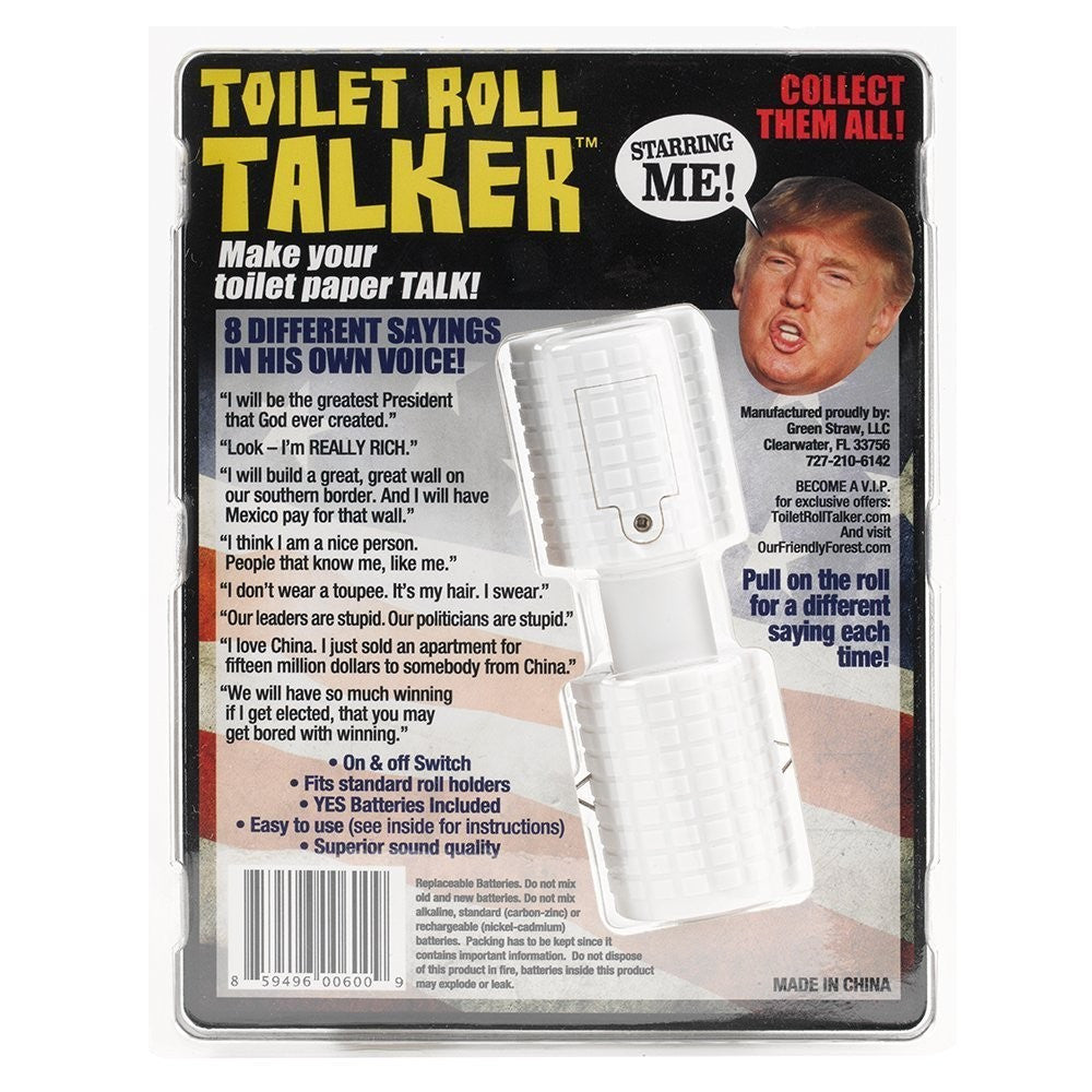 Donald Trump Toilet Roll Talker - Our Friendly Forest