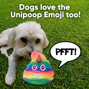 Unicorn Poop Emoji Farting Plush Toy