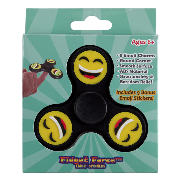 Smiley Face Emoji Tri-Spinner