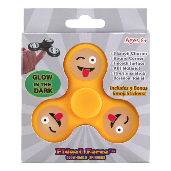 Winking Tongue Out Emoji <b>Glow in the Dark</b> Hand Spinner