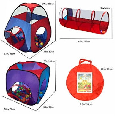Pop Up Children Play Tent with Crawl Tunnels and Storage Case u2013 Playful Kid  sc 1 st  Playful Kid & Pop Up Children Play Tent with Crawl Tunnels and Storage Case ...