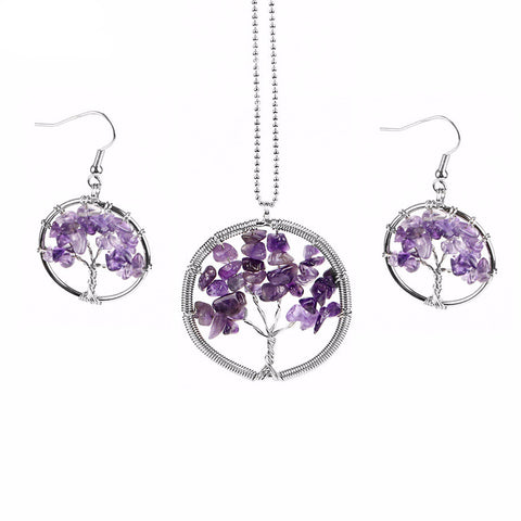Tree of Life Wrapped Wire Jewelry Set